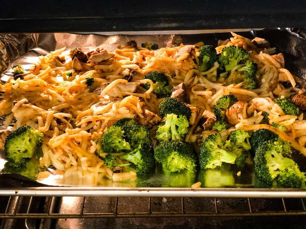 vegetables for breakfast bake in oven roasting