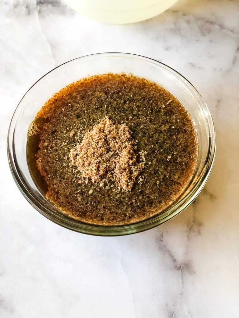 ground flax seed in coffee