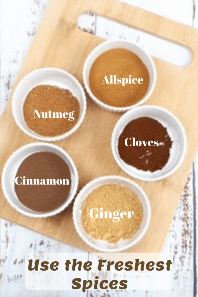spices for homemade pumpkin pie spice